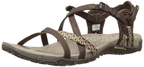 Merrell Women's Terran Lattice II Sandal, Dark Earth, 9 M US
