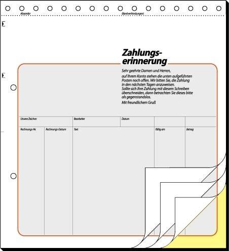 Sigel Zahlungserinnerung Mahnung Fs 51 2 Amazonde Elektronik