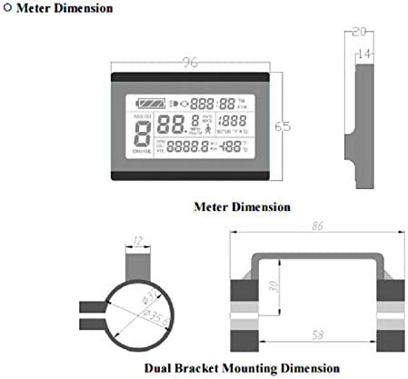 HalloMotor Ebike 24V 36V 48V 500W Controller 25A Brushless with KT LCD3 Electric Bicycle Display Regenerative Reverse Function
