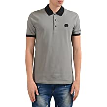 Versace Collection Men's Gray Short Sleeves Polo Shirt US S IT 48