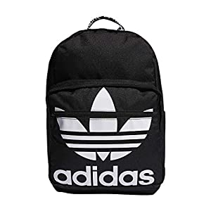 adidas Originals Unisex Trefoil Pocket Backpack, Black/White, ONE SIZE