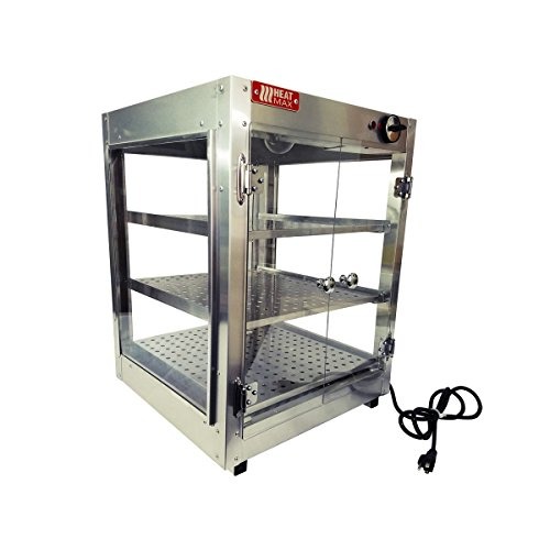 HeatMax Commercial Countertop Food Warmer Display Case With Water Tray 18x18x24 by HeatMax