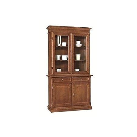 Mobili. - Mobile Wood 2 Doors Sideboard with Display Cabinet Arte ...