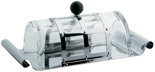 Alessi MGBUT Butter Dish, Black by Alessi