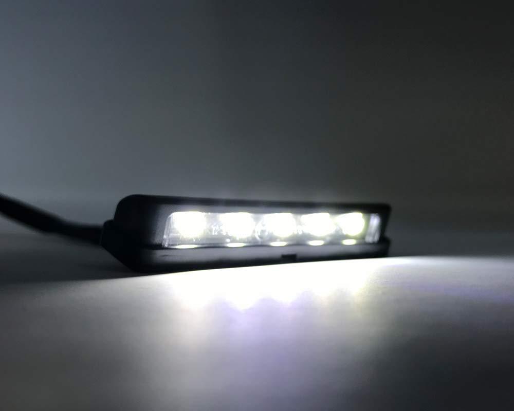 LED Moto Luce Portatarga Quad Scooter Moto