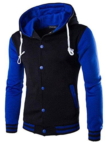 Blue Moda Giacca Design Inverno 9347 Capispalla Cappotto Sport Uomini Casuale Jeansian Tendenza Sottile Uomo TIqOxw46