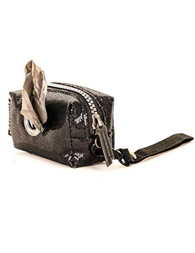 - FYDELITY- poopyCUTE: Dazzler Glam Black | Luxury Fashion Dog Poo Bag Dispenser