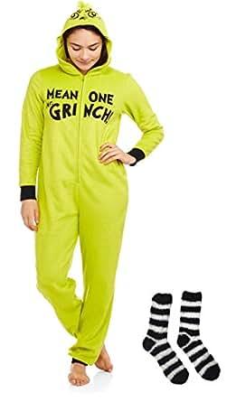 Amazon Com Grinch Women S Sleepwear Union Suit Pajamagift