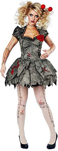 ESSA OAT clothes series Creepy Pins & Needles Voodoo Outfit Halloween Rag Doll Costume Adult Women ()