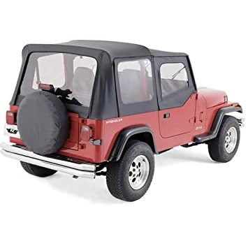 R&age R99715 Replacement Soft Top BLACK DENIM With Door Skins For 1997-06 Jeep Wrangler  sc 1 st  Amazon.com & Amazon.com: Rampage R99715 Replacement Soft Top BLACK DENIM With ...