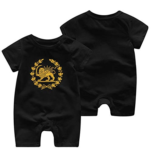 Emblem Of Iran Baby Babys Baby'S Short Sleeve Jumpsuit Clothes Cotton Soft Coverall