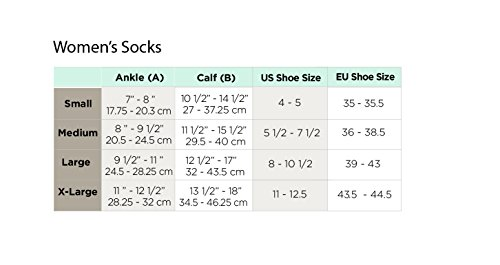 Ames-Walker-Womens-AW-Style-167-Travel-Compression-Knee-High-Socks-15-20-mmHg-Microfiber-NylonSpandex-167-P