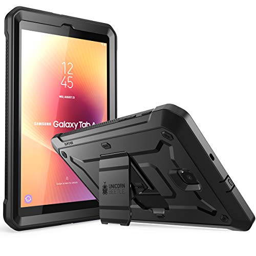 Galalxy Tab A 8.0 Case 2018, SUPCASE [Unicorn Beetle Pro Series] with Built-in Screen Protector Full-Body Hybrid Rugged Kickstand Protective Case for Tab A 8.0 SM-T387 (2018 Release) (Black)
