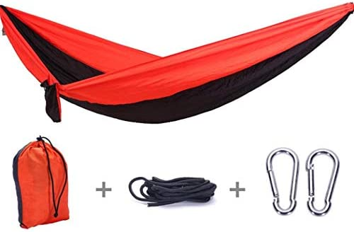 yerflew Outdoor Double Camping Hammock – Lightweight Nylon Portable Hammock, Parachute Double Hammock for Backpacking, Camping, Travel, Beach, Yard.