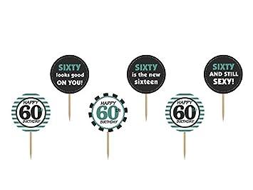 Cupcake Und Kuchendeko Typ 60 Geburtstag Amazon De Spielzeug