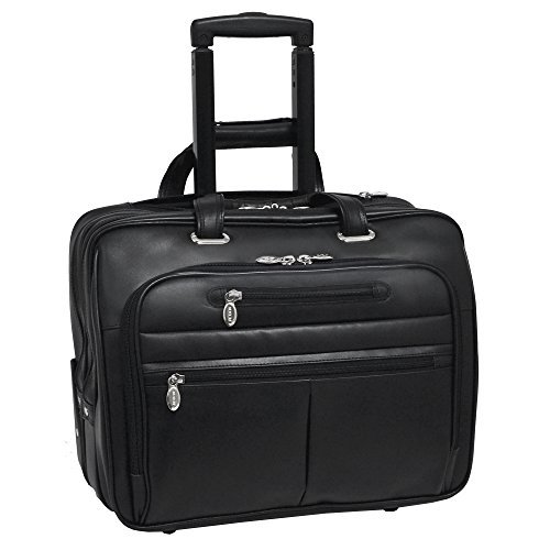 McKlein WRIGHTWOOD 17'' Wheeled Laptop Case,Black by McKleinUSA