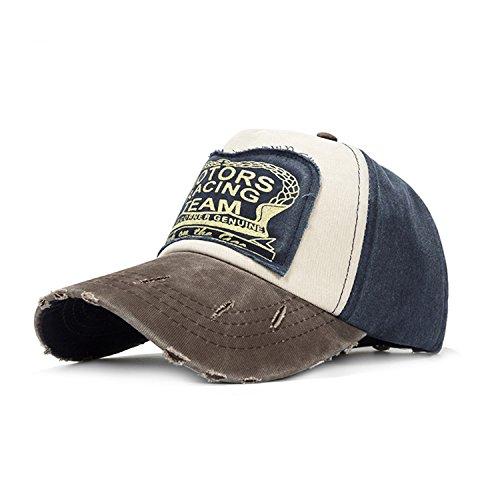 2018 Retro Baseball Cap Women Grinding Patchwor Baseball Hat Men Snapback Hip Hop Hat Cotton Cap Unisex Gorras Wholesale Navy Coffee