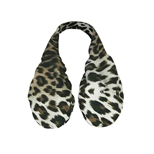 Covermason Mujer Ta-Ta Suave Sujetadores Deportivos Leopardo Impresión Toalla de Sudor Marrón
