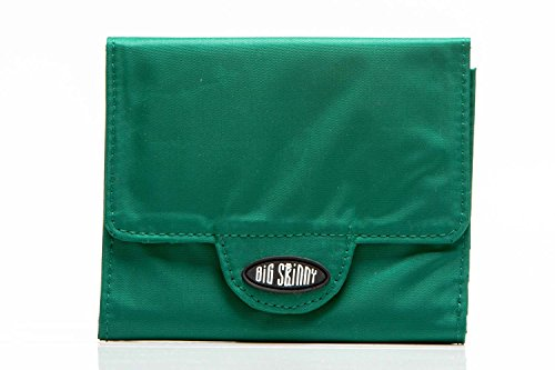 Big Skinny Women's Trixie Tri-Fold Slim Wallet, Holds Up to 30 Cards, Verdant Green