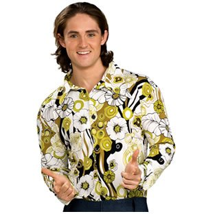 Feeling Groovy Green Adult Costumes (Groovy Shirt- Green)