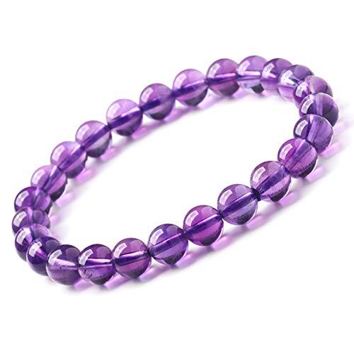 SL SweetLove Purple Crystal Bead Bracelet 8mm Mysterious Charm Stretch Bracelets for Women Girls Men ()