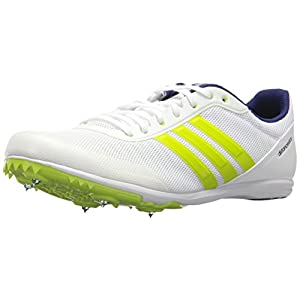 Adidas Men's Distancestar, White/Zero Metallic/Slime, 9.5 M US