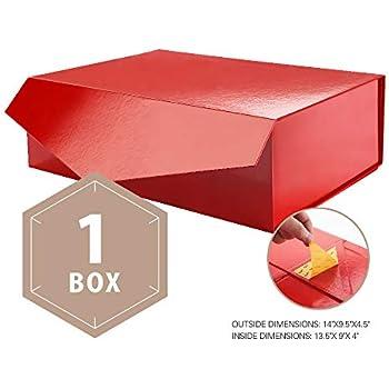 1Pcs Bridesmaid Proposal Large Gift Box Rectangular Collapsible Box 14x9.5x4.5/'/'