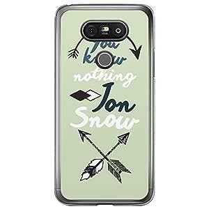 Loud Universe LG G5 You Know Nothing Jon Snow Printed Transparent Edge Case - Green