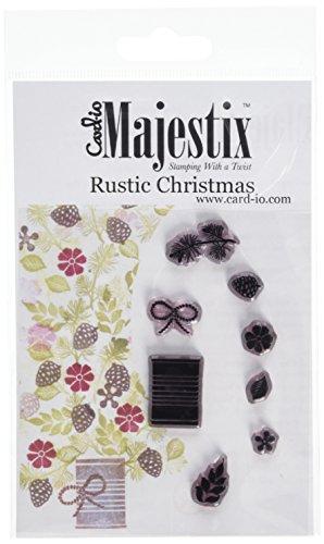 Card-io Majestix Rustic Christmas Clear Stamp Set, Transparent