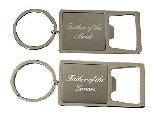 Infinity Collection Father of the Bride & Groom Stainless Steel Bottle Opener Keychain, Perfect Wedding Party Gift for Father of the Bride or Groom