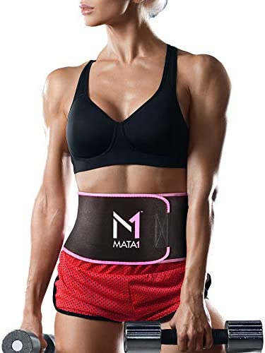 Mata1 Waist Trimmer Belt with a Free Bag Included, Thin Body Sweat Wrap, Weight Loss Enhancing Belt for Men and for Women, Excellent Back Support Promoting Posture Improvement 1