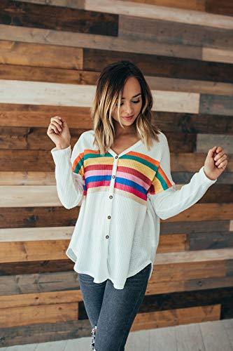 Femmes ASSKDAN Multicolore Coat Veste Hauts Slim Ray Tunique Dcontracte Bouton Outwear Blouse blanc Cardigan 65g5Tq
