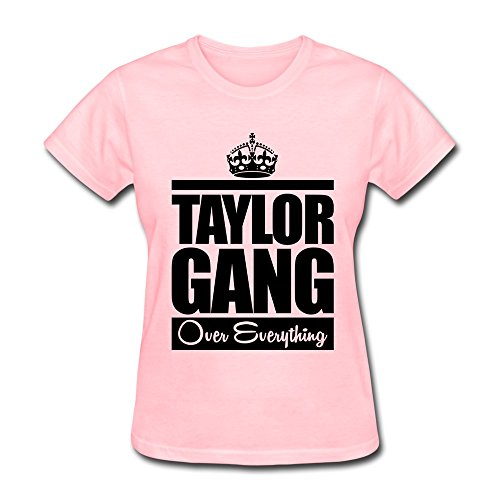 WSB Women's T-shirts Particular Taylor Gang Over Everything Custom T Shirt Pink Size L ()