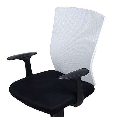 Price comparison product image Smiry Stretch Jacquard Office Computer Chair Backrest Covers - Protective Universal Rotating Desk Chair Slipcovers,  Fit Rectangle Design Chair Backrest