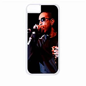 Ludacris - Hard White Plastic Snap - On Case with Soft Black Rubber Lining-Apple Iphone 4 - 4s - Great Quality!