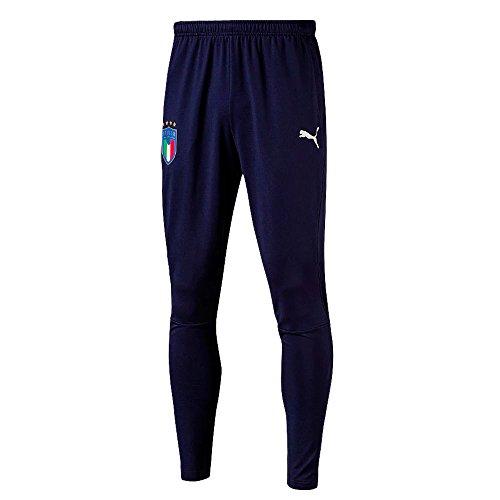 (Italy Training Pants with Zipped Pockets 2018/2019 - Navy - L)
