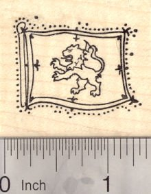 Royal Rubber Stamp - Lion Rampant Rubber Stamp, Royal Standard of Scotland, King of Scots banner