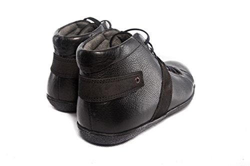 Herren Echt Leder Stiefel Schwarz Handgefertigt (SW005)