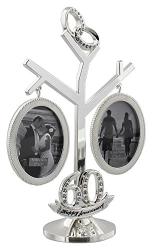 Beautiful 60th Wedding Anniversary Double Picture Frame Tree By Haysom Interiors