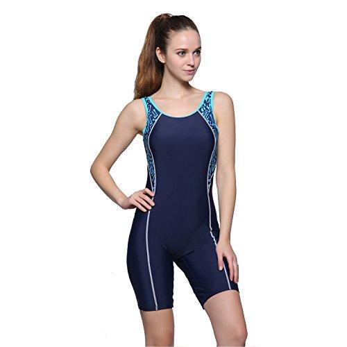 Modeokker Women Swimsuit Swimming Costume One Piece Sport Flat Seams