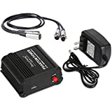 Depusheng USB 1- Channel 48V Phantom Power Supply w/Adapter XLR Audio Cable for Condenser Micro Microphone Music Equipment