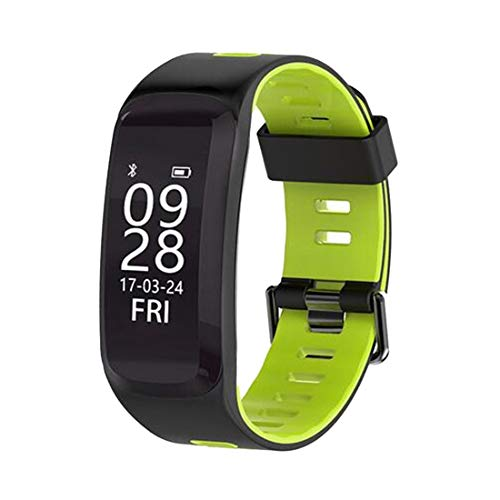 F4 Smart Band Smart Wristband Heart Rate Tracker Blood Pressure Oxygen Fitness Bracelet IP68 Waterproof GPS Smart Watch (Green)