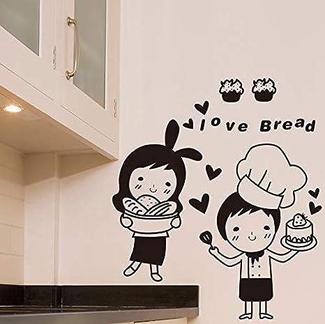 Pbldb Chefs Etiqueta De La Pared Cocina De Dibujos Animados