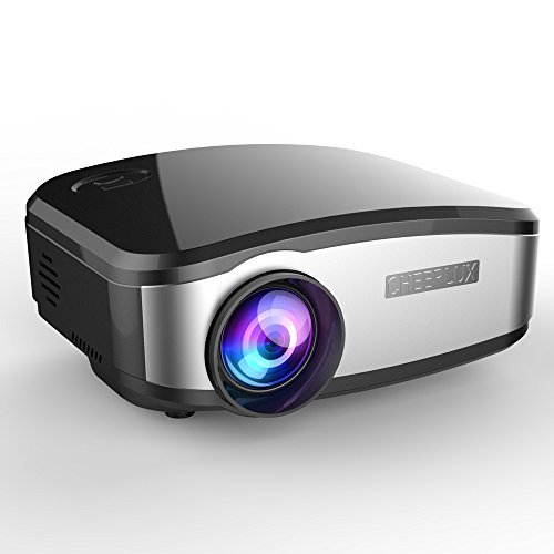 CHEERLUX Projector Mini HD LED for Home Theater Cinema Movie Night Video Tv Gaming Kids Toy MHL Ipad Iphone 6 6s Support Chromecast Black
