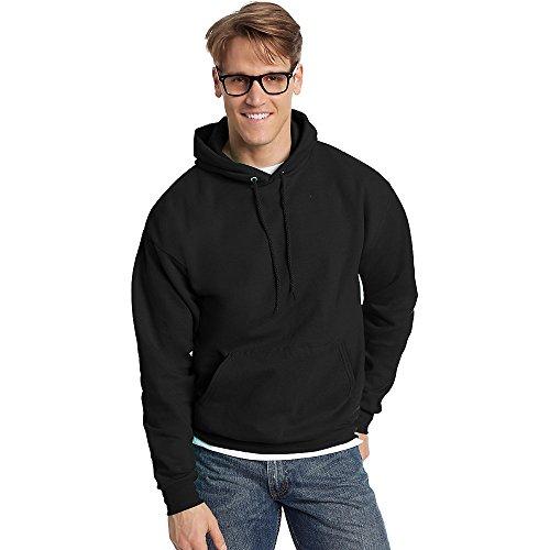 Hanes Men's Pullover EcoSmart Fleece Hoodie, Black, 3X-Large
