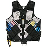 High Visibility Tool Vest with Built in Hydration Pouch - Electricians, Surveyors, Contruction (Black)