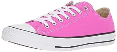 Converse Chuck Taylor All Star Seasonal Canvas Low Top Sneaker, Hyper Magenta, 5 M US