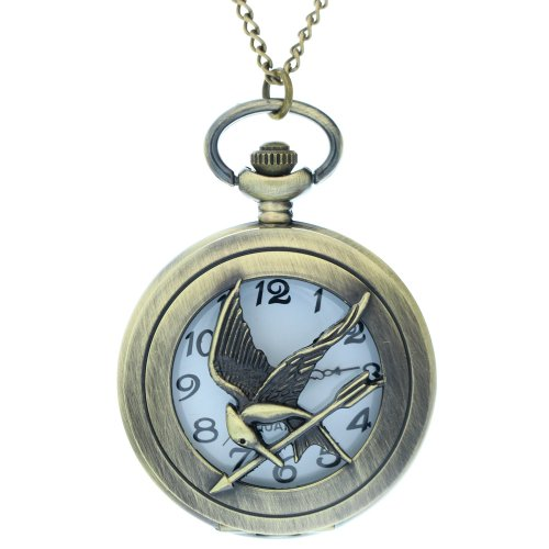 The Hunger Games Logo Mock Bird Pocket Watch