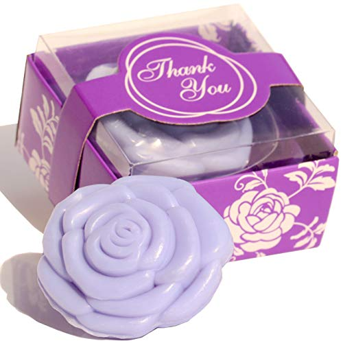 AI·X·IANG Handmade Mauve Rose Sharped Soap Wedding Favors Gift for Guests Keepsake Gift for Wedding Gift Baby Favors, Parties, Bridal Shower Favors Decorations Gifts,Wedding Favors (Baby Shower Favors Purple)