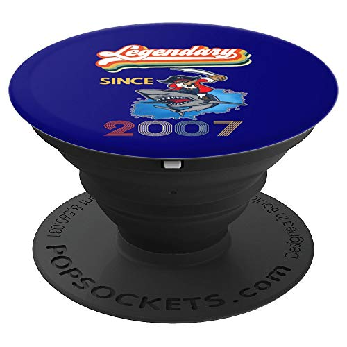 12th Birthday Legendary Pirate Shark Dab Halloween Retro PopSockets Grip and Stand for Phones and Tablets -